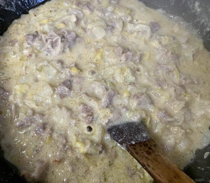 豚肉と白菜のパスタ
