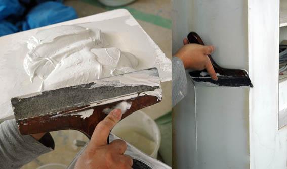塗装屋のパテしごき