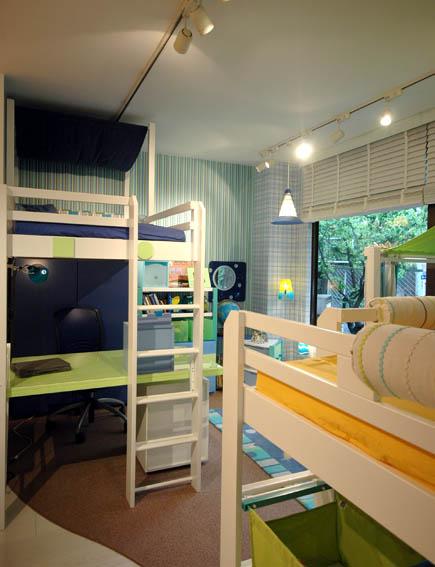 男の子の部屋のインテリア