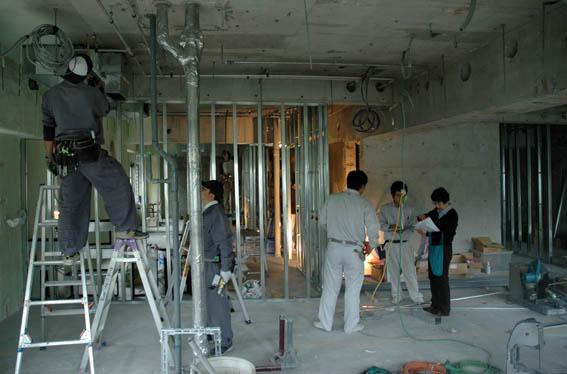 LGS壁下地工事