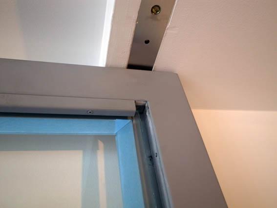 オーダースチール扉の押し縁詳細