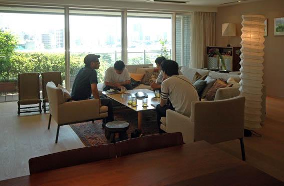 日経マガジンスタイルの取材撮影@白金台S邸