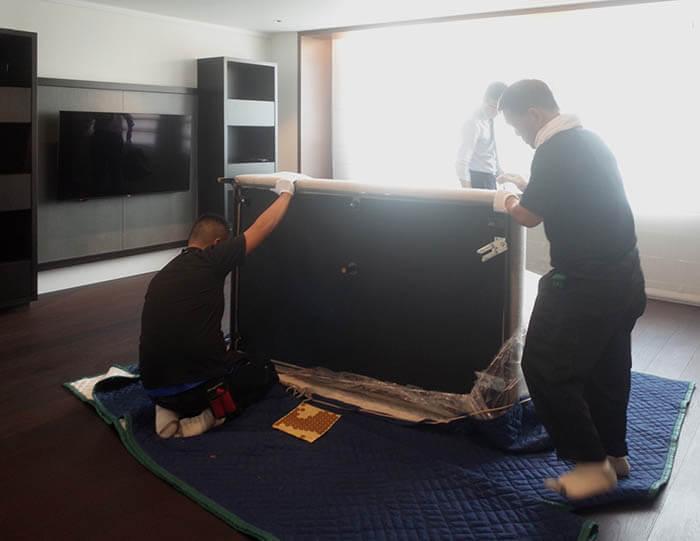 ミノッティのソファの組み立て@白金台E邸