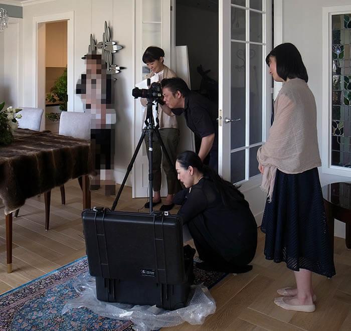 家庭画報取材撮影@成城X邸