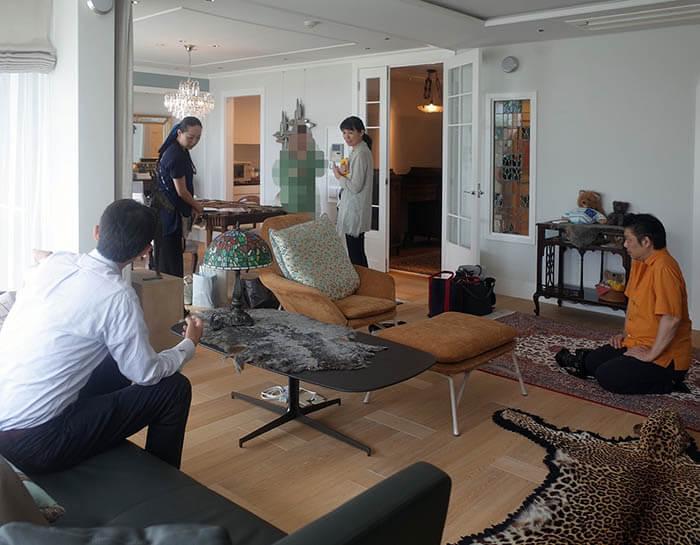 家庭画報取材のロケハン@成城X邸
