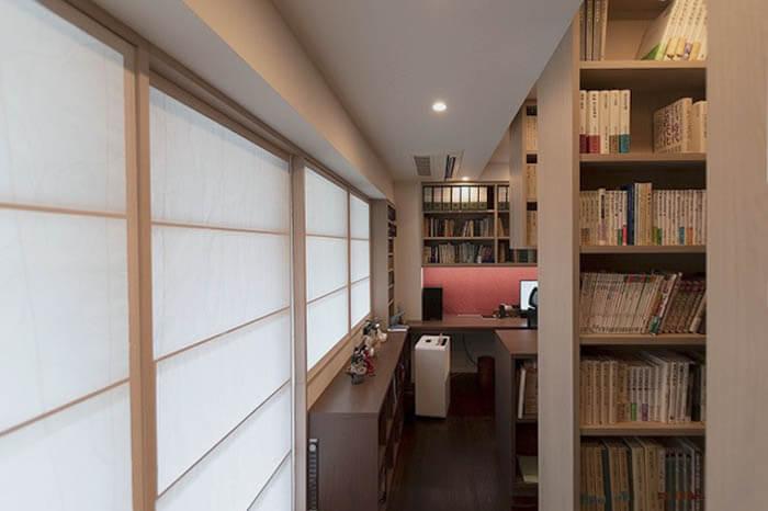 大容量の書庫と書斎リフォーム