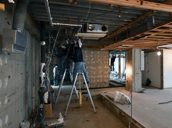 マンションの空調吸排気設備刷新工事