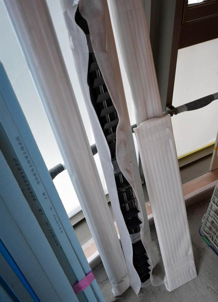 マンションの空調吸排気設備刷新工事_ブリーズラインの再塗装