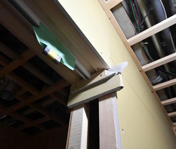 石膏ボード張り&吊金物設置