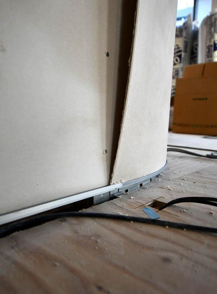 FGボードのカーブ壁の作り方