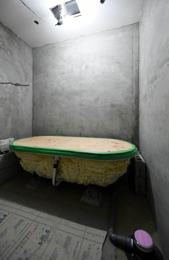 エクセルジョイントを施した浴室天井