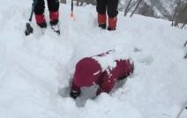 雪の埋没訓練