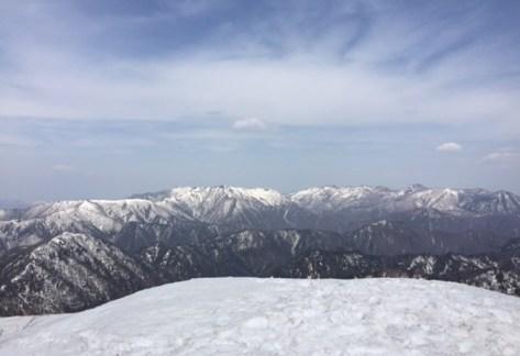 冠雪の那須連山