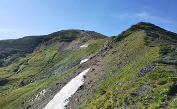 雪倉岳への登り
