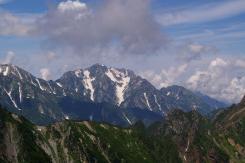 蓮華岳への道から見えた剣岳