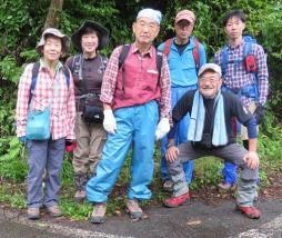 登山口で記念撮影