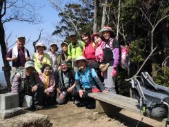 晃石山山頂で遭遇した「新座山の会」