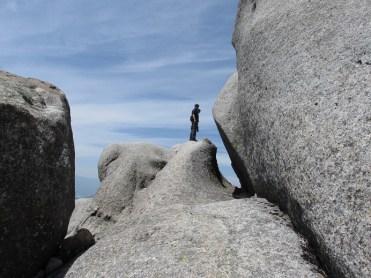 大日岩の頂上直下