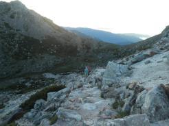 御前峰から下ったカルデラの中?