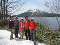 尾瀬沼と燧ケ岳 最高の眺めです。