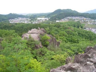 登山道から下界の眺め