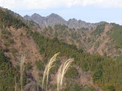見晴台付近から大山三峰山のデコボコを眺める