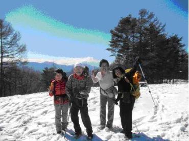 富士山と一緒に記念撮影