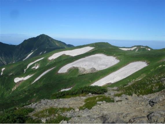 大日岳までの稜線