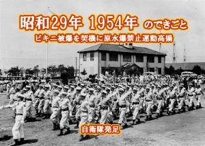 昭和29年 自衛隊発足