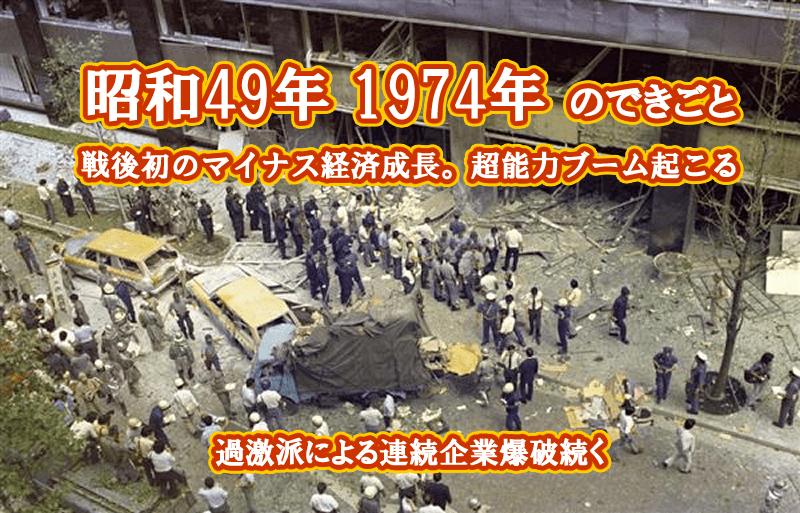 昭和49年 連続企業爆破