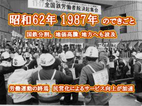 昭和62年 国鉄分割