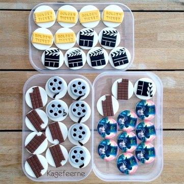 Film tema cupcake toppers - Movie theme cupcakes