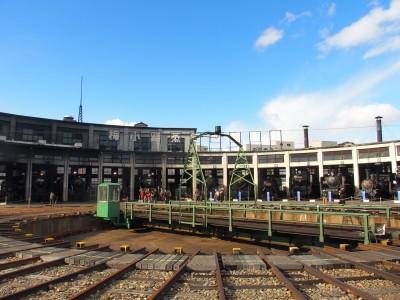 春にも仕事で訪れた梅小路機関車館