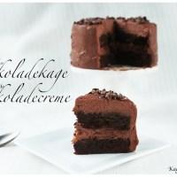 Chokoladekage med forførende Chokoladecreme