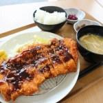熊谷市役所8階「市民食堂 わいわい亭」のメガチキンカツ定食(2019年)