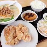 熊谷市新堀「中華料理 福香楼」の唐揚げ定食と台湾豚骨ラーメン