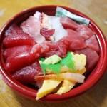 熊谷市佐谷田熊谷食品卸売市場内「加藤水産」の朝から海鮮丼と特上寿司と上寿司
