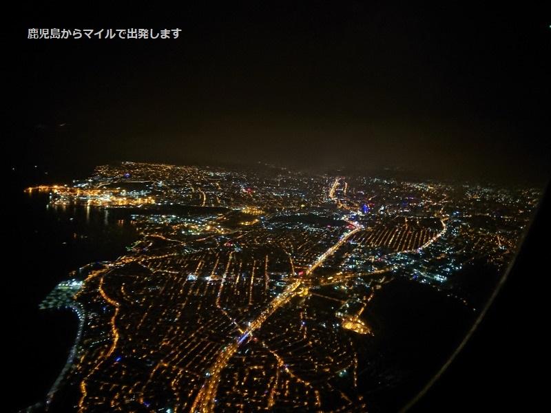飛行機から見るイスタンブールの夜景