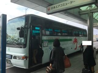 荷物を取ってから、バス乗り場までの時間ですが、目と鼻の先なので30秒です。大体のバスが前金です。現金払いでも、鹿児島県ご当地ICカードでも、窓口でのチケット購入などが使えます。時間がギリギリのときには、まずはバスの前まで行けば、もちろん待ってくれます。バス乗り場は、行先によって番号が振られているので、係の人がバス乗り場にいますので、聞くのが1番早く、確実です。