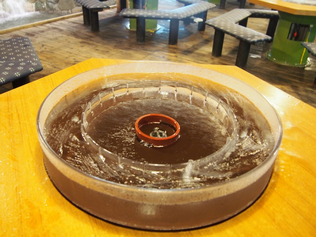 water circling table for some noodle