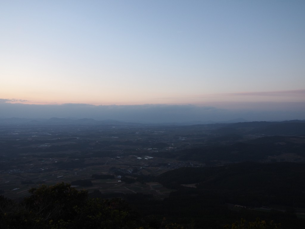 Sunset view from the top of Mt. Oono