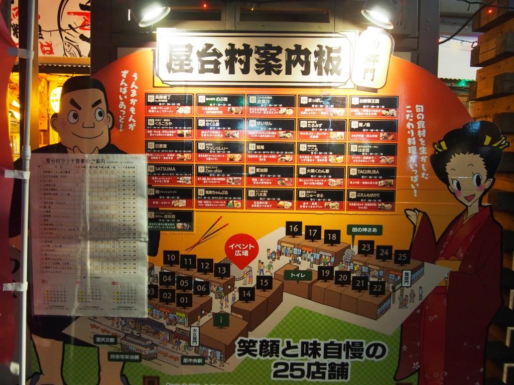 shop guide board of yataimura