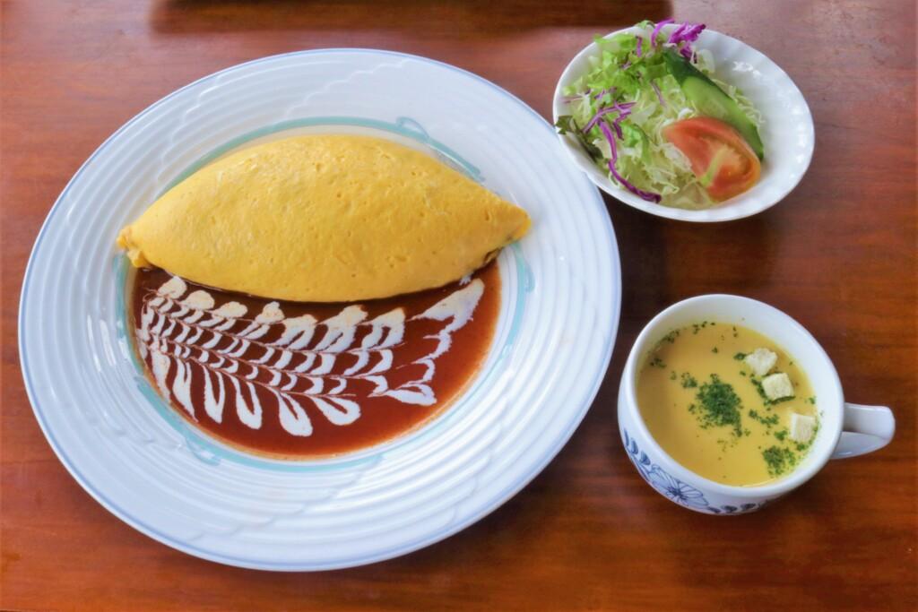 霧島峠茶屋のオムライス定食
