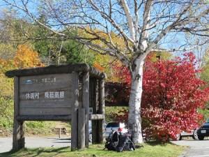 乗鞍の紅葉は美しく、空は青く澄みきっていました。