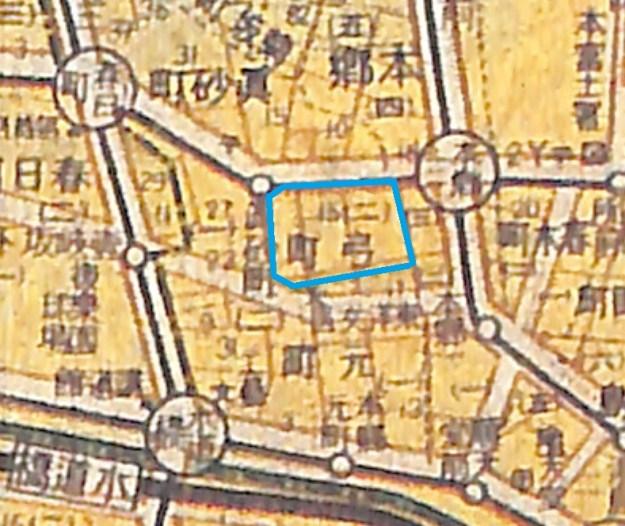最新大東京案内図 昭和17年(1942年)