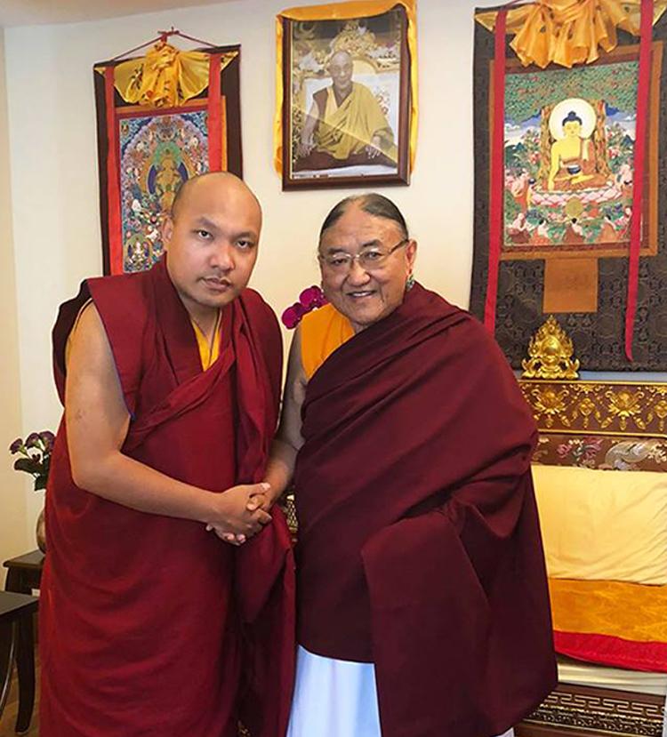 The Gyalwang Karmapa Visits His Holiness Kyabgon Gongma