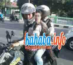 Terduga bandar sabu, yang diamankan menggunakan sepeda motor. Foto: DEDY