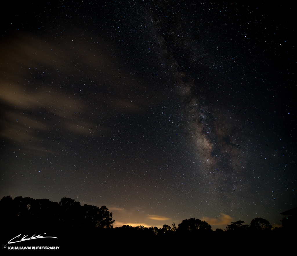 As the Milky Way began to set over Kapaa town after everyone else has gone to sleep.