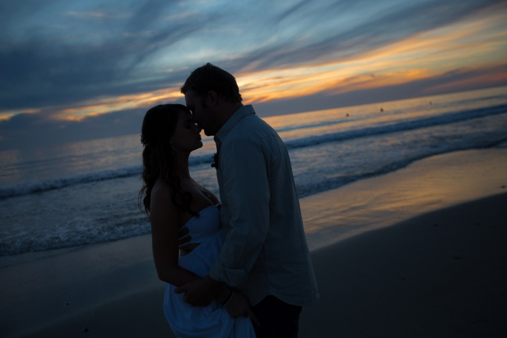 Sunset wedding in California