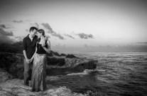 Black and White Sunset Engagement